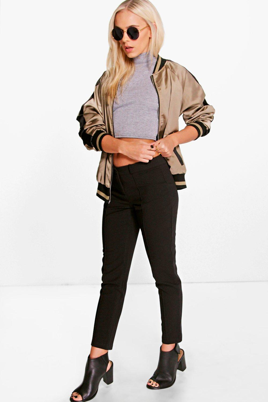 Helen Woven Cigarette Trouser black