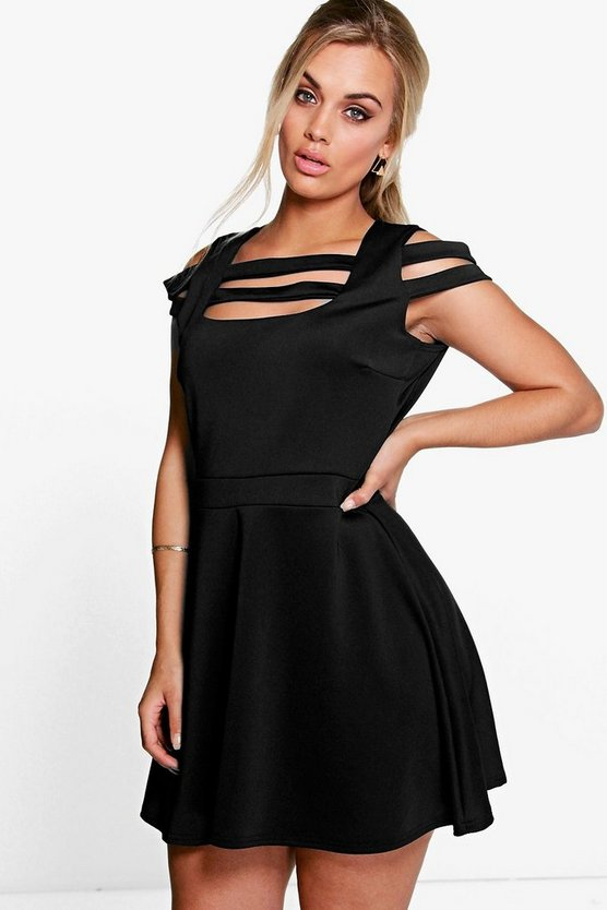 Plus Stacey Strappy Detail Skater Dress