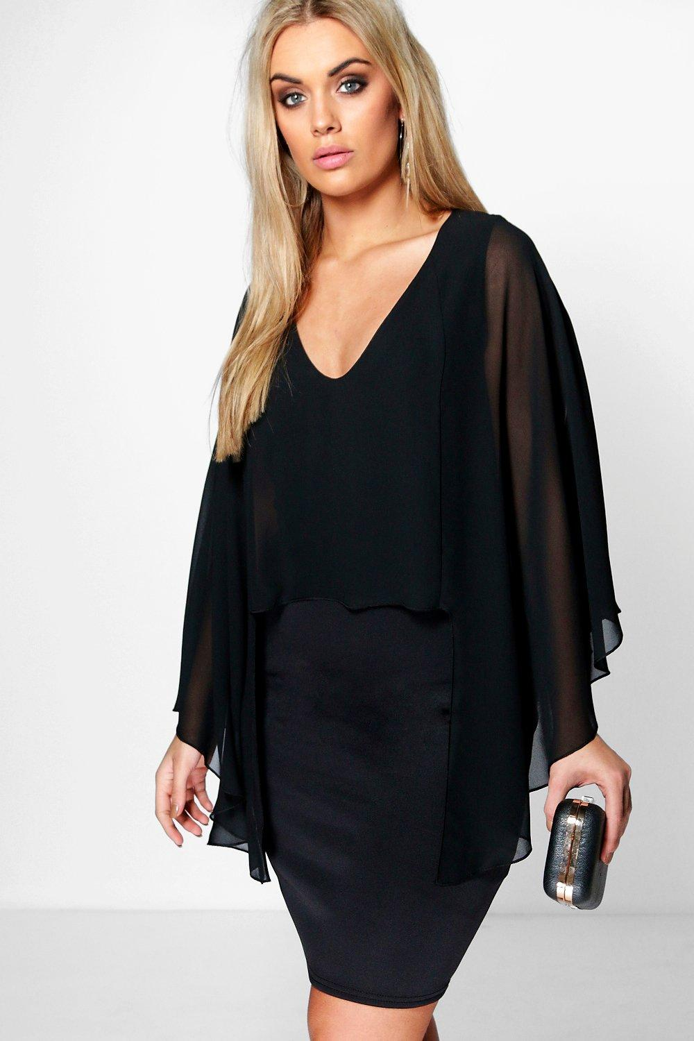 Plus Kate Cape Back Dress