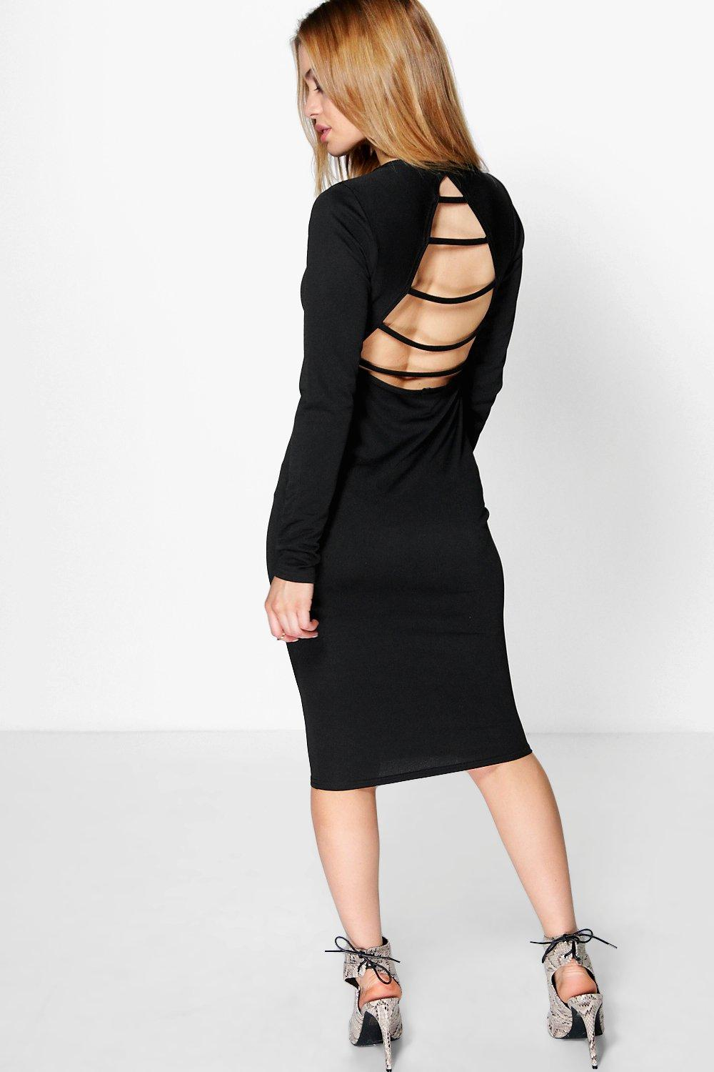 Petite Jane Slash Back Bodycon Midi Dress