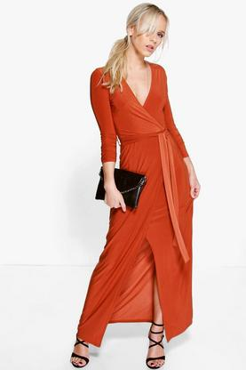 Petite Emily Wrap Front Maxi Dress