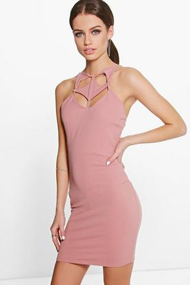 Petite Eve Cut Out Detail Bodycon Dress