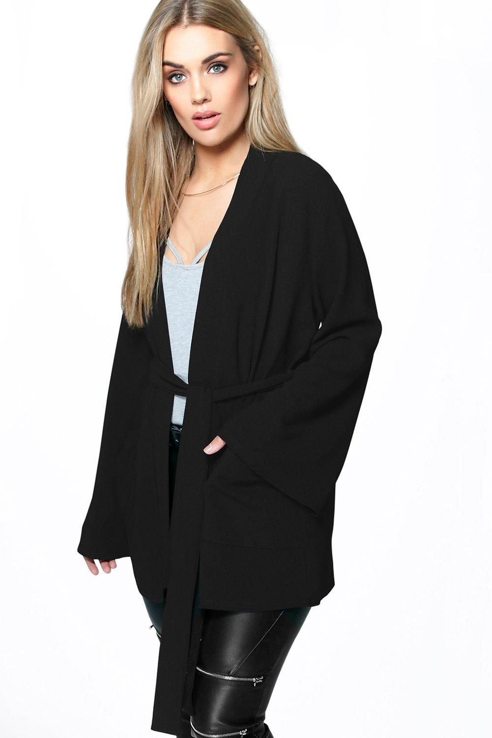 Plus Jen Belted Short Tailored Jacket | Boohoo
