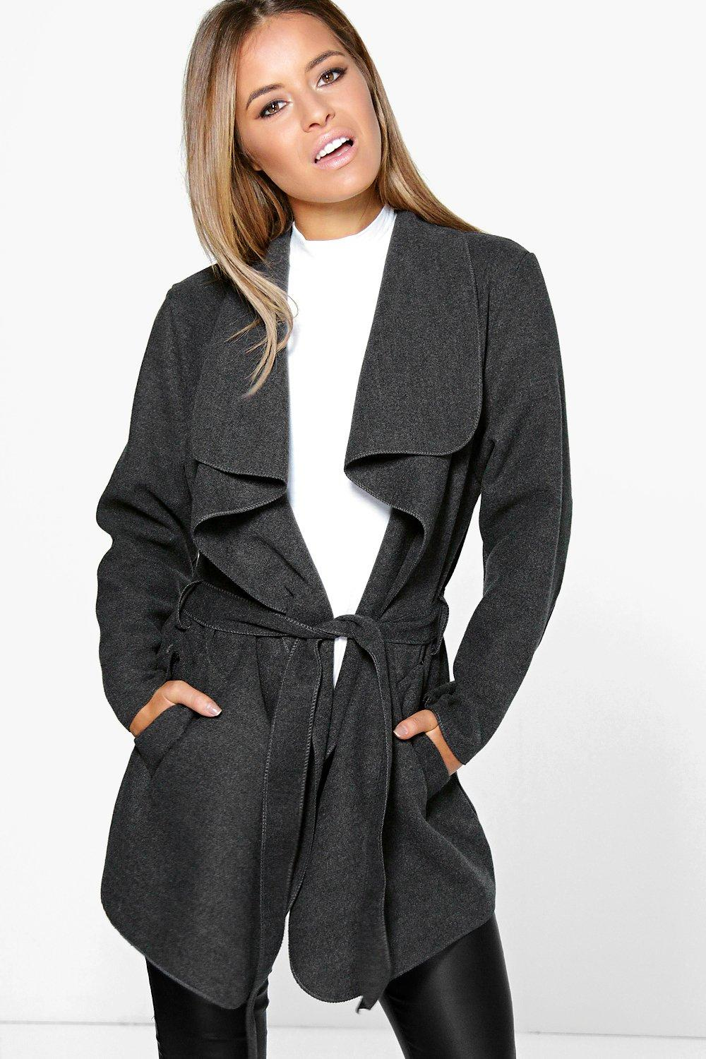 Petite Holly Waterfall Coat