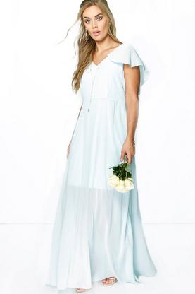 Plus Mandy Chiffon Cape Detail Maxi Dress