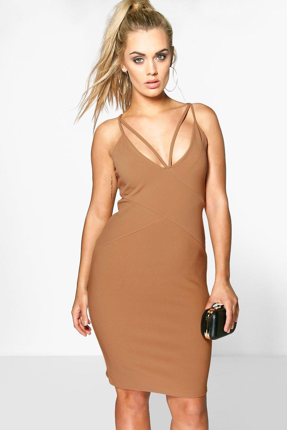 Plus Piper Plunge Bandage Midi Dress