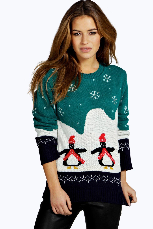 Lilly Penguin Christmas Jumper  multi