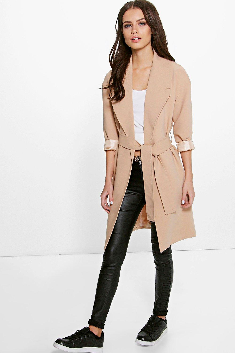 Petite Grace Tailored Belted Duster