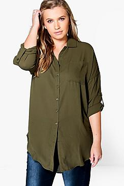 Plus Eva Oversized Shirt