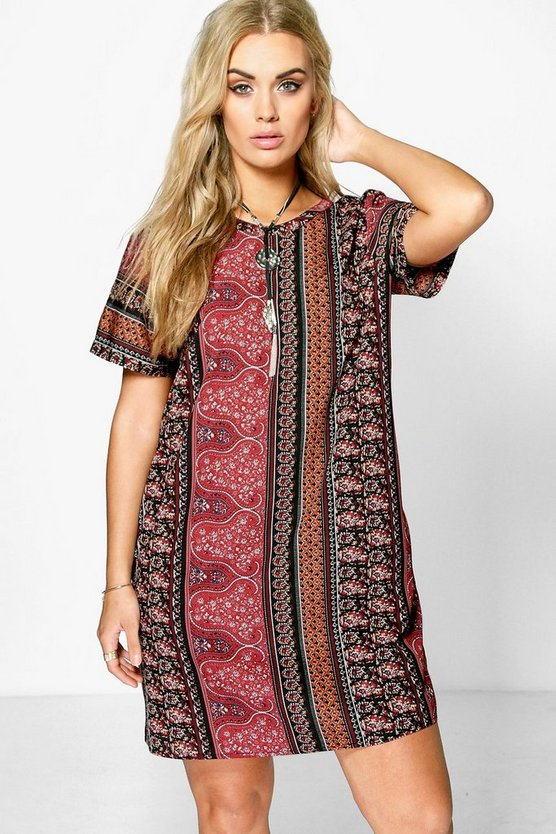Plus Anna Paisley Print Shift Dress