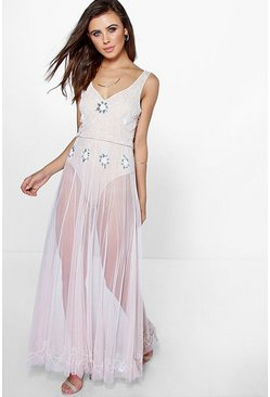 Petite Lydia Sequin Maxi Dress