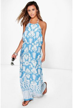 Petite Alice Paisley Printed Maxi Dress