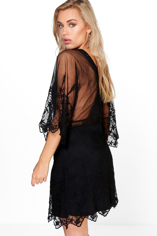 boohoo womens plus size skye boutique crochet wide sleeve. Black Bedroom Furniture Sets. Home Design Ideas