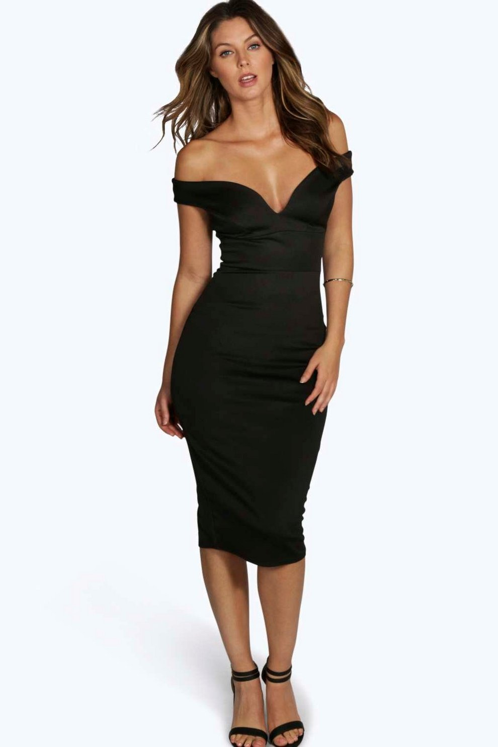 Petite Nisha Off The Shoulder Dress