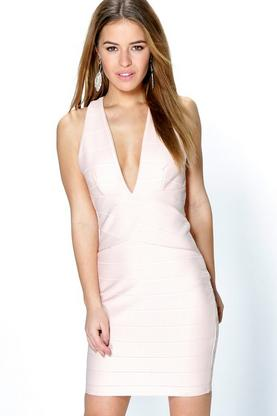 Petite Charlotte Strappy Bandage Dress