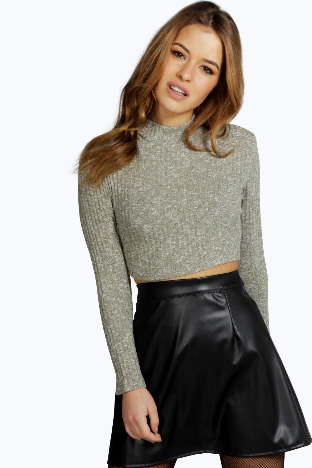 Petite Willow Rib Turtle Neck Knitted Jumper