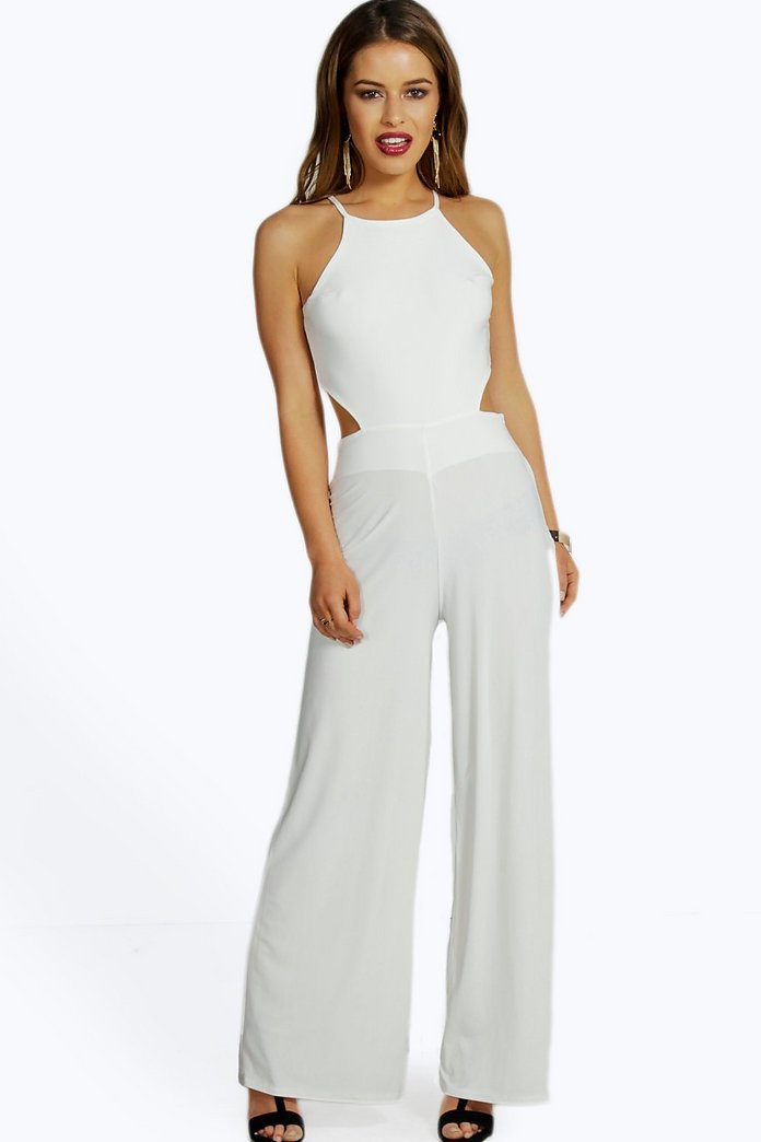 Petite Eva Cut Out Back Jumpsuit