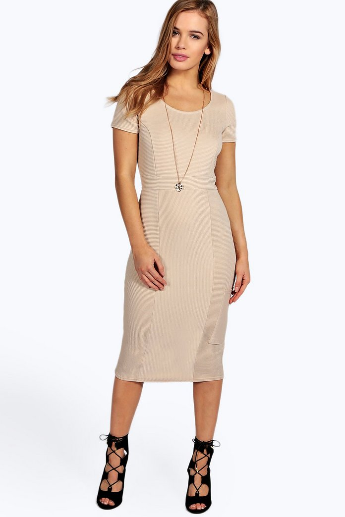 Petite Harper Ribbed Cargo Midi Dress