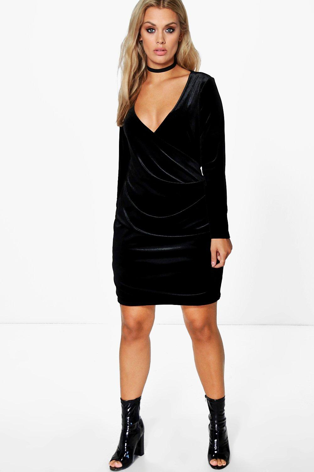 Plus Isla Velvet Wrap Dress