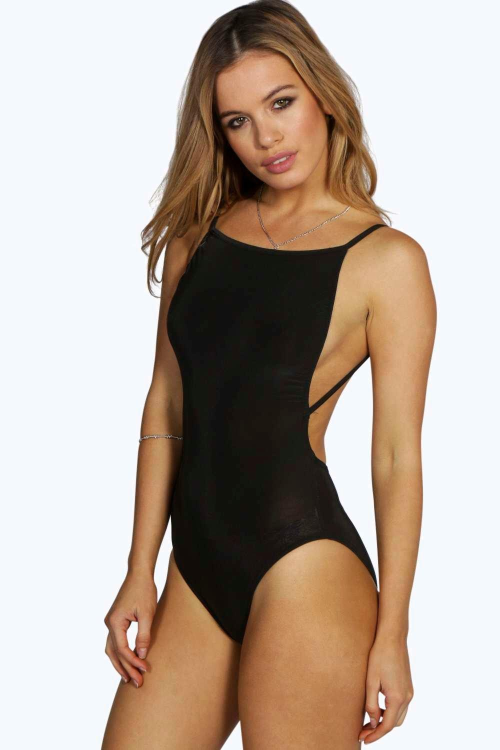 Petite Hollie Backless Strappy Slinky Body