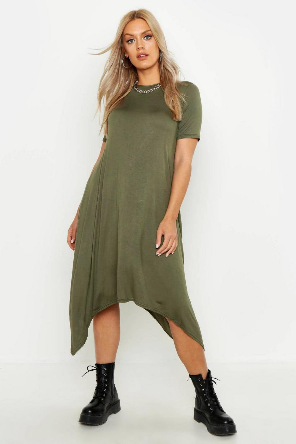 Plus Moira Hanky Hem Swing Dress