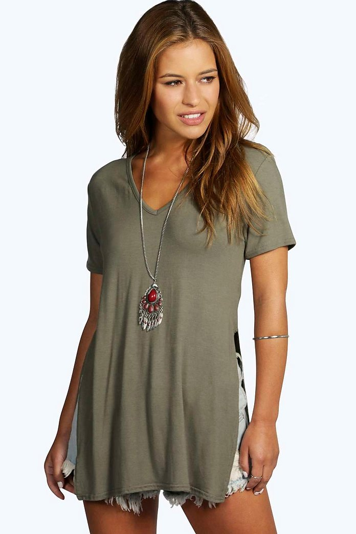 Petite Taylor Split Side T-Shirt