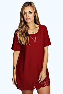 Plus Maya Lazer Cut Hem Tunic Top
