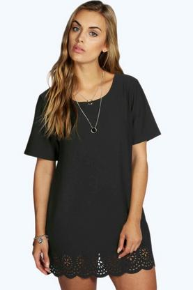 Plus Maya Lazer Cut Hem Dress
