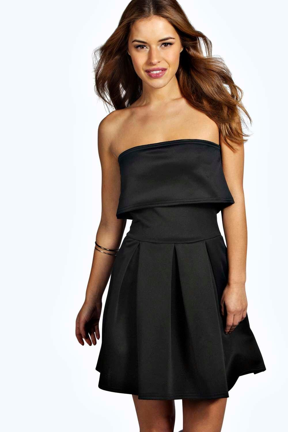 Petite Stephanie Layer Pleated Skater Dress