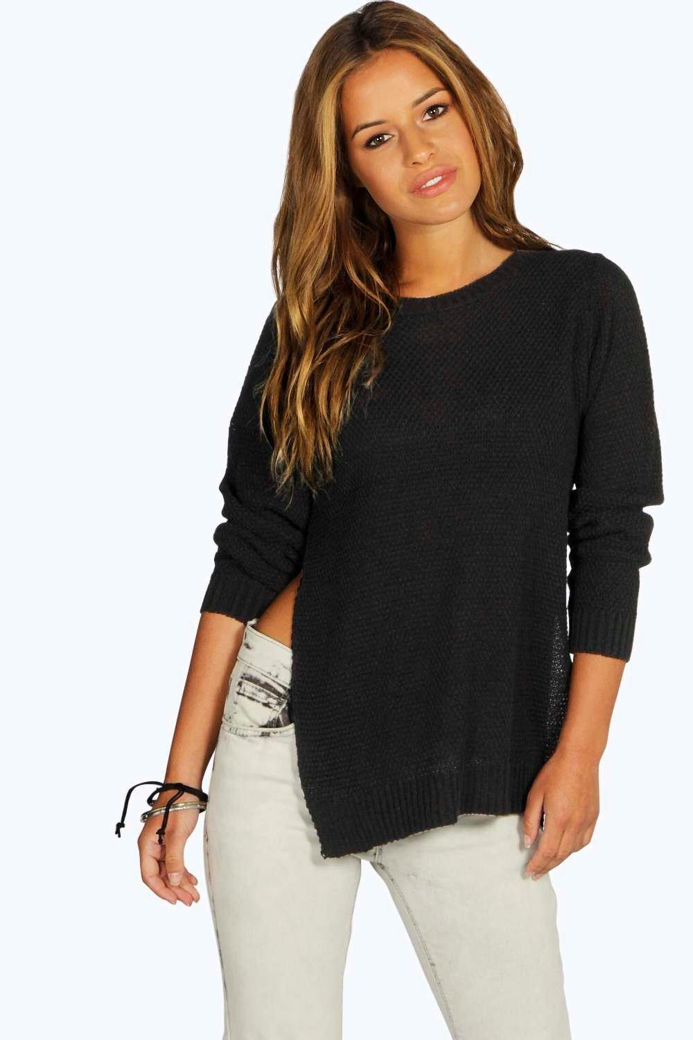 Petite Sarah Side Split Tunic Jumper