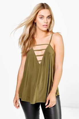 Plus Frankie Strappy Slinky Swing Cami