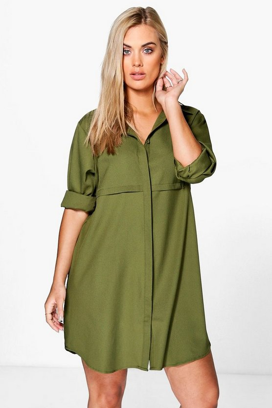 Plus Collette Woven Shirt Dress