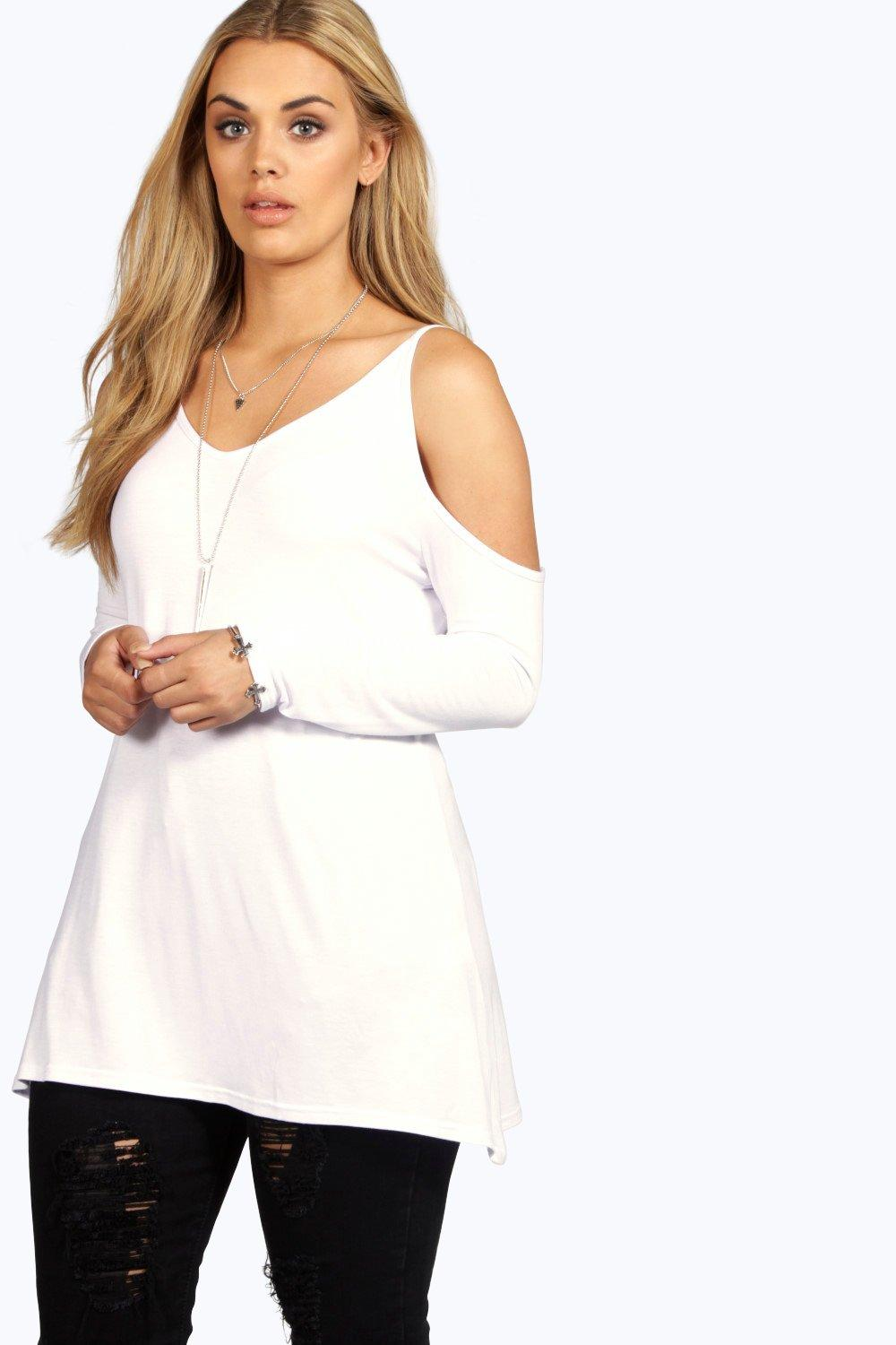 Plus Roxanne Open Shoulder Swing Top