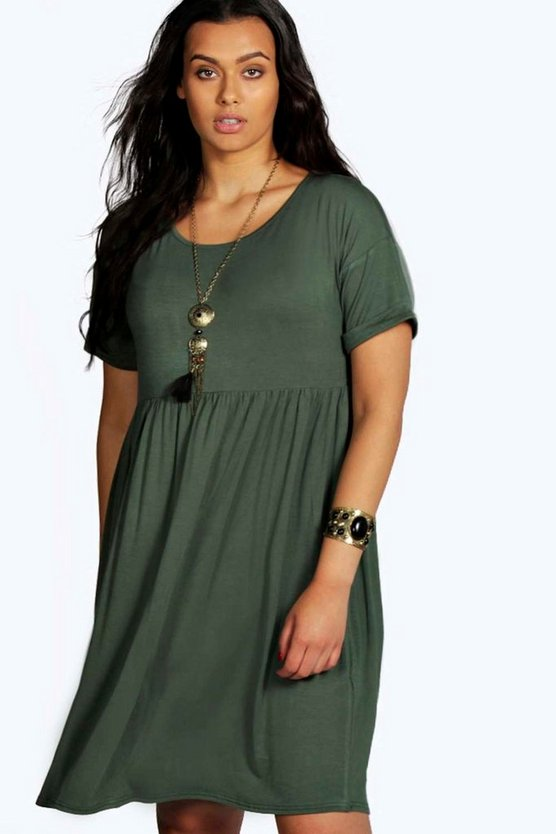 Plus Emily Short Sleeved Smock Dress