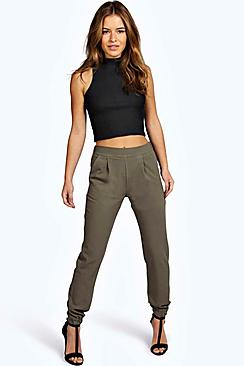 Petite Nicola Woven Trouser With Cuff Detail