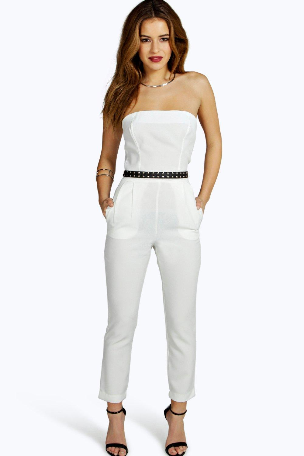 Petite Grace Bandeau Tailored Jumpsuit