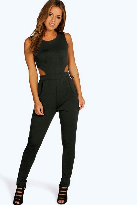 Petite Lynne Side Cut Out Skinny Leg Jumpsuit