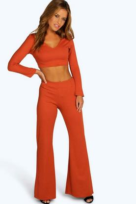 Petite Mara Crop & Flared Trouser Co-ord