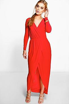 Plus Zoe Slinky Wrap Front Maxi Dress plus size,  plus size fashion plus size appare