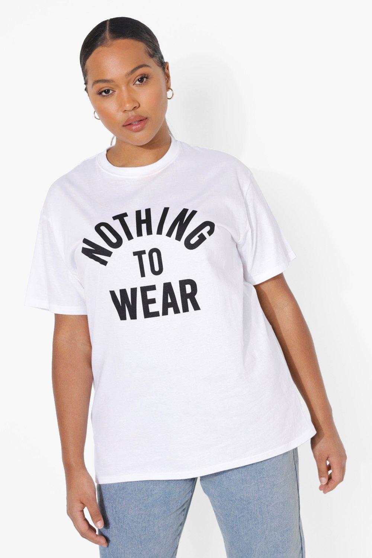 Womens Plus T-Shirt mit Slogan