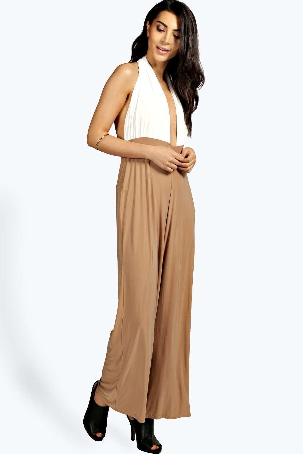 Petite Andrea Ruched Slinky Jumpsuit