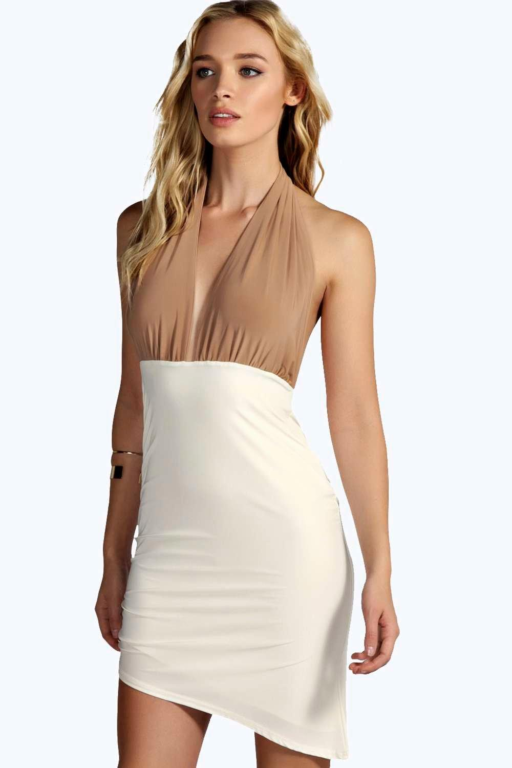 Petite Belle Ruched Slinky Bodycon Dress