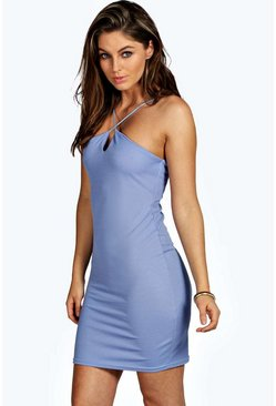 Petite Alyssa Cross Strap Bodycon Dress