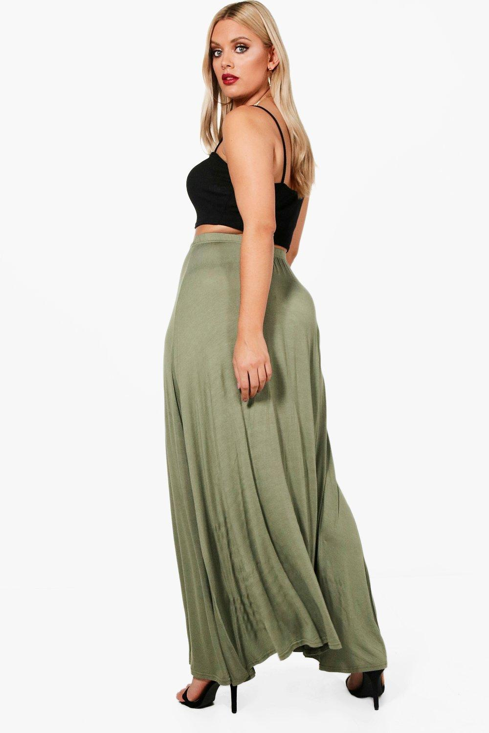 Boohoo Womens Eliza Button Through Maxi Skirt