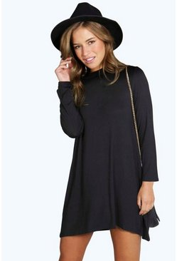 Petite Alice High Neck Swing Dress
