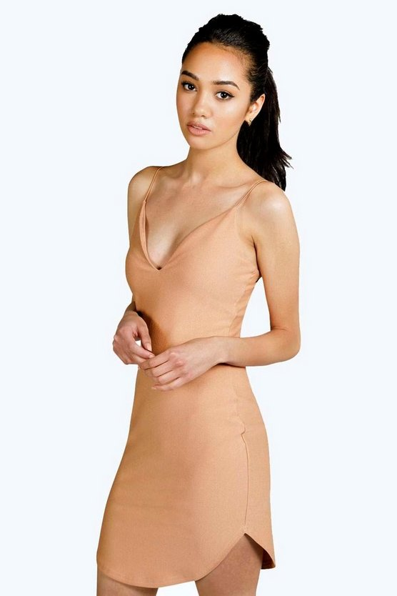 Petite Eva Plunge Neck Bodycon Dress