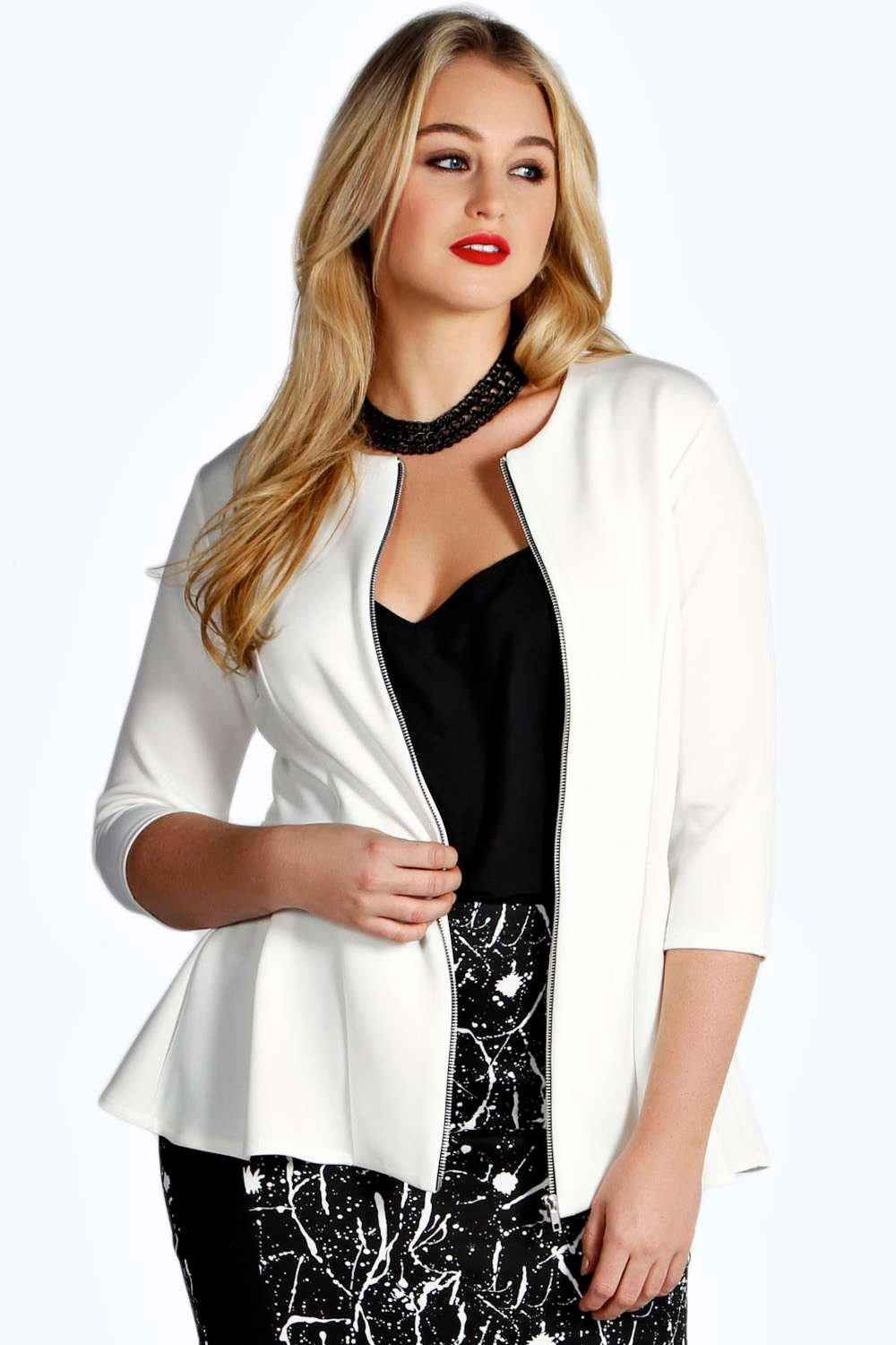 Plus Cerys Peplum Jacket