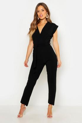 Petite Millie Wrap Over Jumpsuit