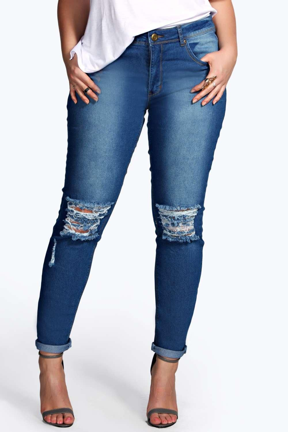Skinny jeans knees stretch