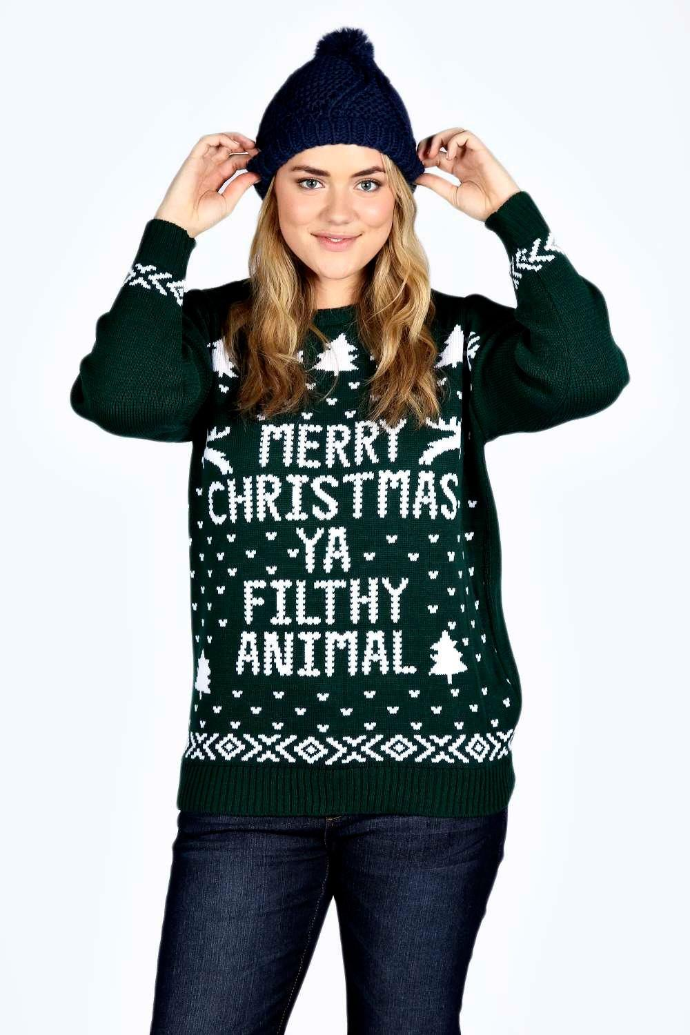 Plus Ivy Filthy Animal Xmas Jumper